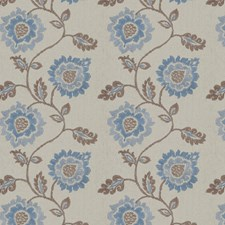 Bleu Embroidery Decorator Fabric by Fabricut