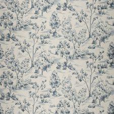 Bleu Novelty Decorator Fabric by Fabricut