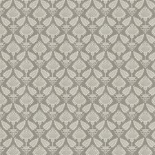 Grey Floral Decorator Fabric by Fabricut