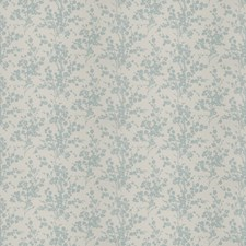 French Blue Floral Decorator Fabric by Vervain