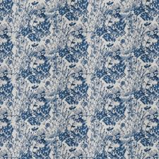 Cobalt Floral Decorator Fabric by Trend