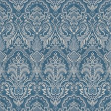 Navy Print Pattern Decorator Fabric by Vervain
