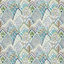 Blue/amp/Green Decorator Fabric by Schumacher