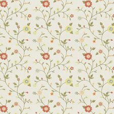 Coral Garden Embroidery Decorator Fabric by Fabricut