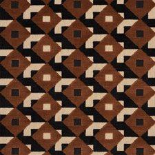 Brown/amp/Black Decorator Fabric by Schumacher