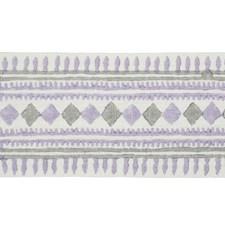 Lilac/amp/Grey Trim by Schumacher
