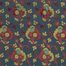 Blue/Red Decorator Fabric by Schumacher
