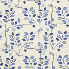 Delft Blue Decorator Fabric by Schumacher