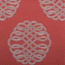 Poppy Red Embroidery Decorator Fabric by Highland Court
