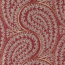 Red Leaf Decorator Fabric by Highland Court