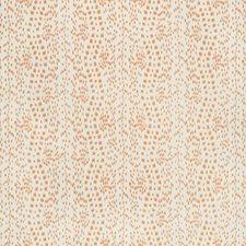 Tangerine Animal Skins Decorator Fabric by Brunschwig & Fils