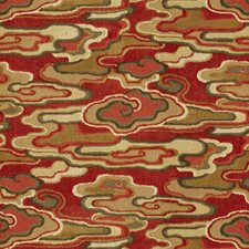 Red/Camel Modern Decorator Fabric by Brunschwig & Fils