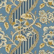 Blue/Gold Botanical Decorator Fabric by Brunschwig & Fils