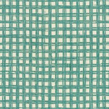 Turquoise Check Decorator Fabric by Brunschwig & Fils