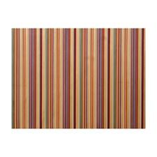 Crimson/Blue Stripes Decorator Fabric by Brunschwig & Fils