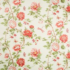 Red Botanical Decorator Fabric by Brunschwig & Fils
