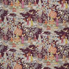 Plum Botanical Decorator Fabric by Brunschwig & Fils