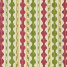 Red/Green Ikat Decorator Fabric by Brunschwig & Fils