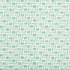 Aqua Geometric Decorator Fabric by Brunschwig & Fils