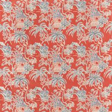 Red Asian Decorator Fabric by Brunschwig & Fils