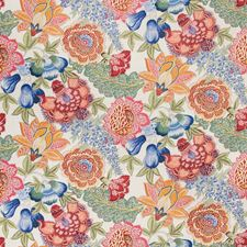 Jewel Botanical Decorator Fabric by Brunschwig & Fils
