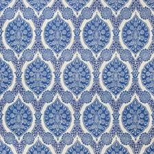 Blue Damask Decorator Fabric by Brunschwig & Fils