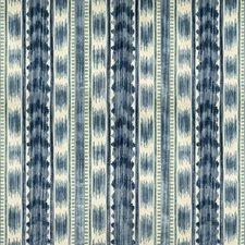Blue Ikat Decorator Fabric by Brunschwig & Fils