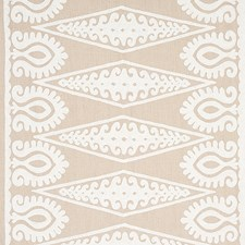 Ivory On Natural Decorator Fabric by Schumacher