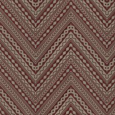 Russet Embroidery Decorator Fabric by S. Harris