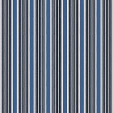Blue Stripes Decorator Fabric by Stroheim