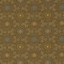 Umber Jacquard Pattern Decorator Fabric by S. Harris