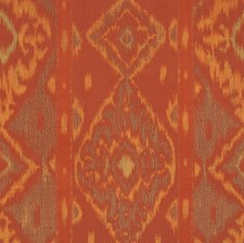 Red Clay Flamestitch Decorator Fabric by S. Harris