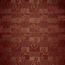 Red Pepper Geometric Decorator Fabric by S. Harris