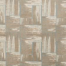 Aqua Geometric Decorator Fabric by S. Harris