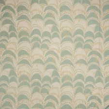 Seaglass Geometric Decorator Fabric by S. Harris