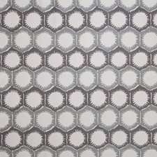 Smoke Geometric Decorator Fabric by S. Harris