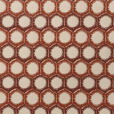 Nectarine Geometric Decorator Fabric by S. Harris