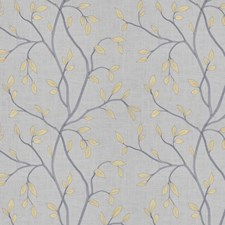 Grey Citrine Embroidery Decorator Fabric by Trend