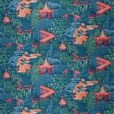 Navy Animal Decorator Fabric by Trend