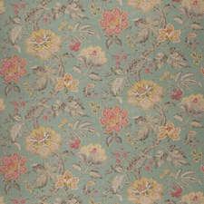 Aqua Floral Decorator Fabric by Fabricut