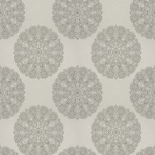 Sterling Medallion Decorator Fabric by Trend