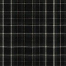 Graphite Check Decorator Fabric by Trend