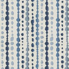 Blue Embroidery Decorator Fabric by S. Harris