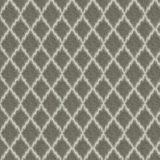 Silver Geometric Decorator Fabric by Trend