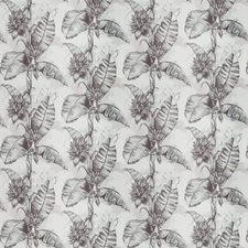 Black Pearl Leaves Decorator Fabric by Vervain