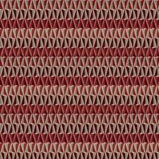 Crimson Geometric Decorator Fabric by Fabricut