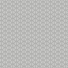 Cloud Silver Geometric Decorator Fabric by Trend