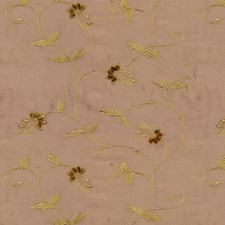Beige/Yellow/Pink Botanical Decorator Fabric by Kravet