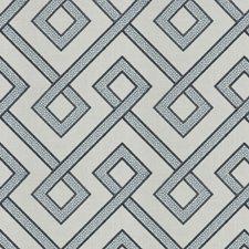 Delft Embroidery Decorator Fabric by Fabricut