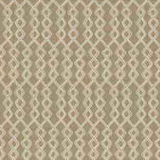 Burlap Embroidery Decorator Fabric by Fabricut